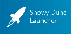 Snowy Dune Launcher's custom wide tile 1